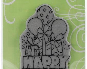 Birthday Stamp, Stampendous, Chunky Birthday, Rubber Stamp, Card Making, Paper Craft