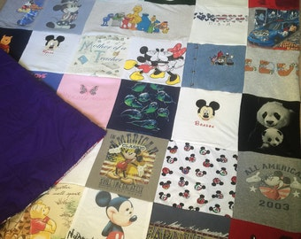 T-shirt Memory Blanket - Queen Bedding - Custom made for you