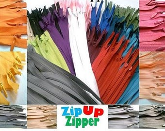 Invisible Zippers 18 Inches Assorted Colors