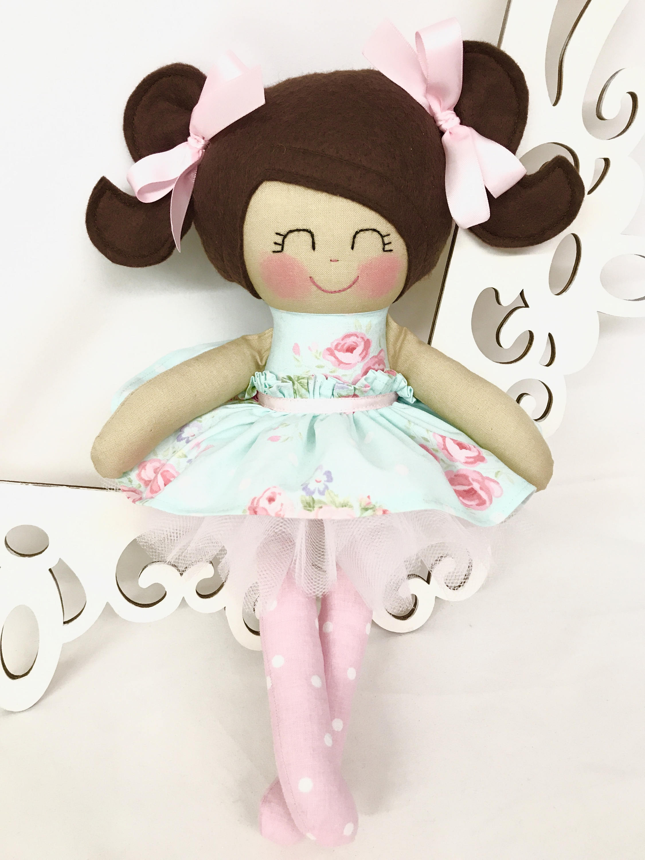 Cloth baby doll Fabric Dolls Handmade Dolls Soft Doll