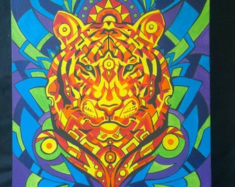 Primal Instinct (original) acrylics on canvas by artist Stewart Moir