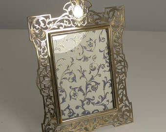 Antique English Polished Brass Photograph Frame c.1890