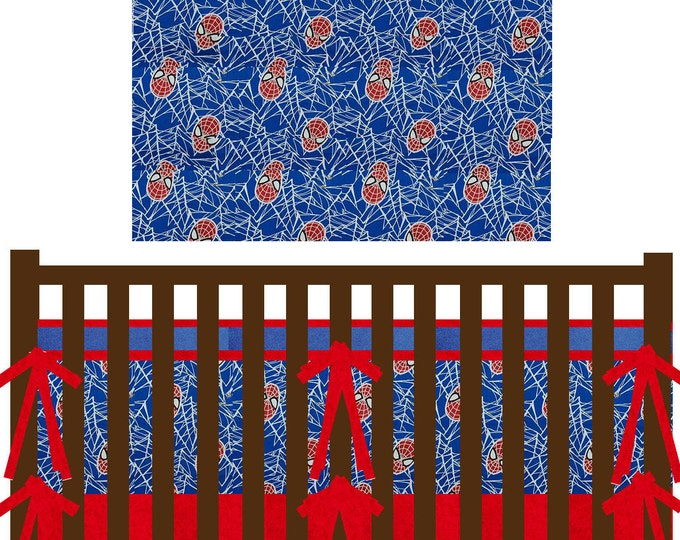 Marvel Avengers Baby Bedding--Spider-man--Custom Crib Bedding
