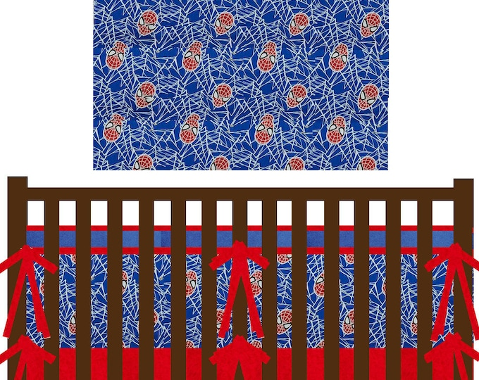 Superhero Baby Bedding--Spider-man--Custom Crib Bedding