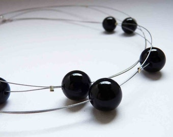 Onyx Necklace - Black Long Casual Necklace