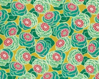 Amy Butler - Dreamweaver - Clouded Floral - Ochre - Free Spirit - Priced Per Yard