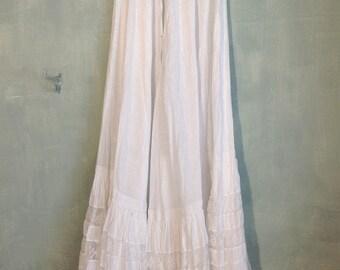 beautiful antique victorian petticoat skirt 1890s XXS