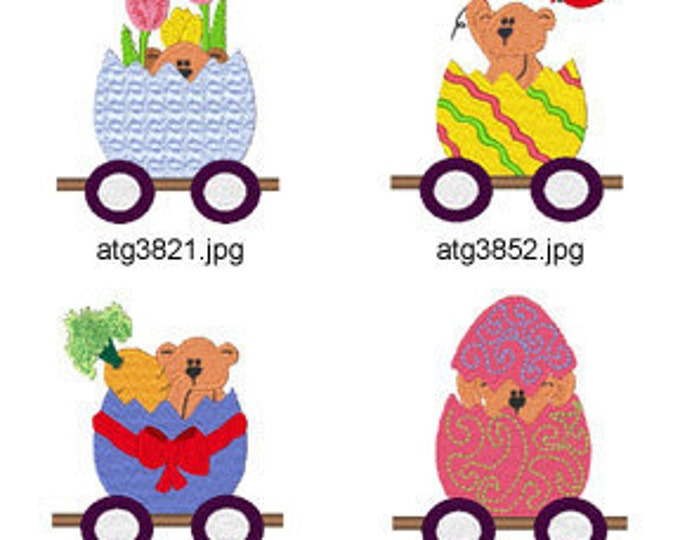 Easter-Train ( 7 Machine Embroidery Designs from ATW ) XYZ17C