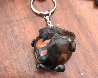Witches cauldron key chain  (key not included )