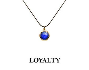 LA-LAP  14K gold filled braided bracelet, necklace and anklet with Lapis Lazuli, for symbol of royalty and honor, One size fits all