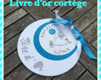 Round procession customizable Wedding guest book