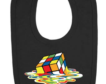 Melting Rubix Cube Baby Bib