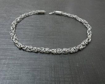 Sterling Silver Byzantine Necklace, 6mm