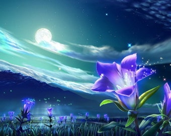 MOONFLOWER ~ MOONFLOWER - 2, 4, or 8 oz Oriental  Floral Perfume - Accords; White Floral, Floral, Fresh Spicy