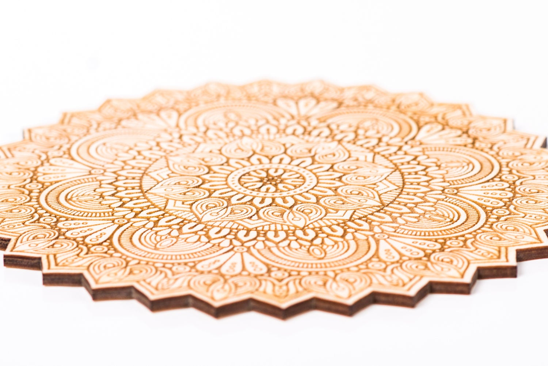 Wood Mandala, Wall Art, Home Decor, Wood shape, Wooden Ornament ...