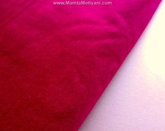 Hollywood Cerise Art Silk Dupioni Fabric By Yard, Shocking Hot Pink Home Decor Fabric, Raspberry Red Dupioni Fabric, Magenta Indian Fabric