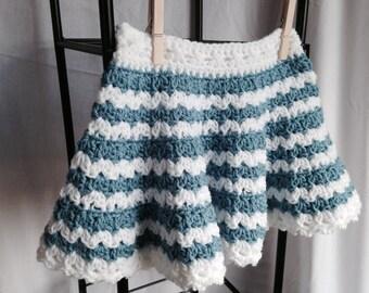 Crochet PATTERN - little girls skirt crochet pattern, toddler skirt pattern, ruffly skirt crochet pattern, baby clothes crochet pattern