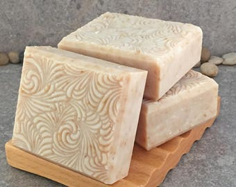 Peony Soap - Handcrafted Exfoliating Herbal Bar Soap
