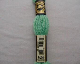 Cotton canvas, DMC wool Colbert E_7604 486, celadon Green