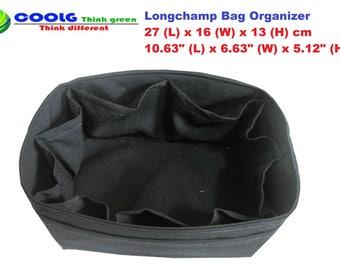 Stylish purse Organizer Insert Fit Longchamp Le Pliage Large Tote Bag / Made to order / Black