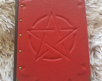 red grimoire leather