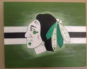Chicago Blackhawks - Irish 16x20 Sports Painting