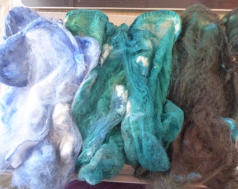 Hope Jacare - Just gorgeous approx 25g hand dyed silk hankies SH66