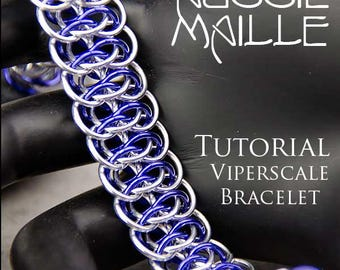 Chainmaille Tutorial - Viperscale Bracelet