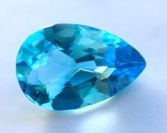 Blue Topaz Pear Shape Faceted Gem 5.69ct