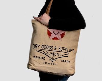 Shoulder bag, vintage bag, pocket with star