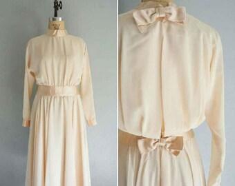 vintage Love Song dress | vintage cream dress | vintage Jerry Silverman dress