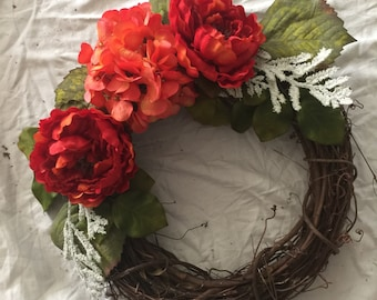Rustic Spring Wreath, Summer Wreath, Mother's Day Wreath
