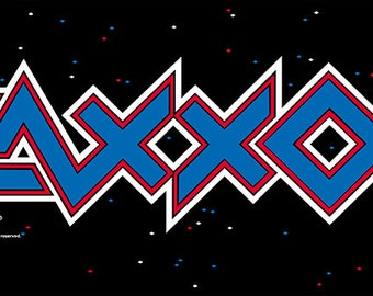"ZAXXON Marquee, Arcade, 12 x 36"" Video Game Poster, Print"