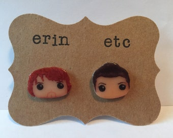 Handmade Plastic Fandom Earrings - Outlander - Claire & Jamie