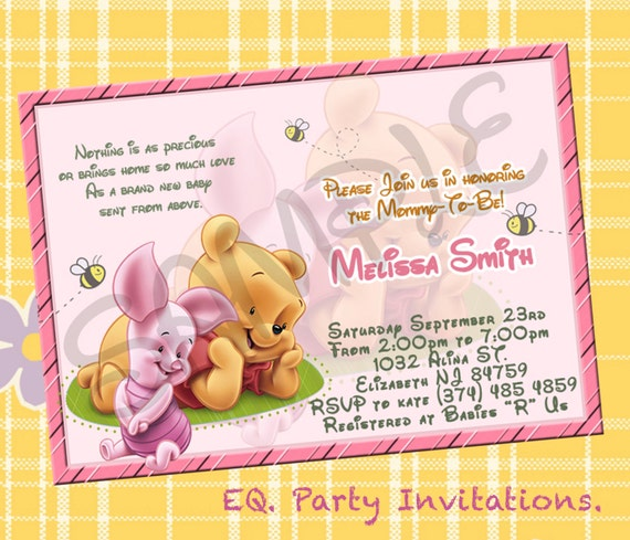 Winnie The Pooh Templates For Baby Shower: Winnie The Pooh Baby Shower Invitation Printable