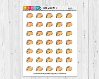 Taco very much   Tacos   Kawaii Tacos   Planner Stickers   18028-04