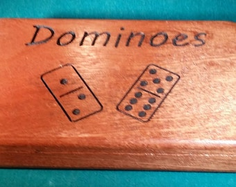 Full set of dominoes with box