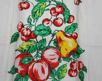 Yummy Vintage Fruit Kitchen Towel-circa 1960s