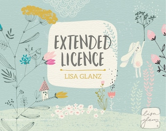 Extended license: Lisa Glanz graphics / commercial use / commercial use clipart / Lisa Glanz shop