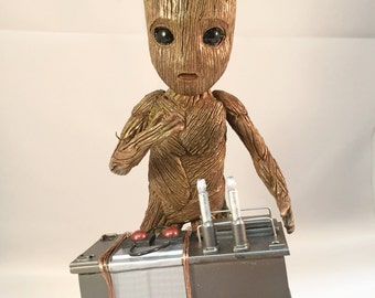 Baby Groot with Detonator and base