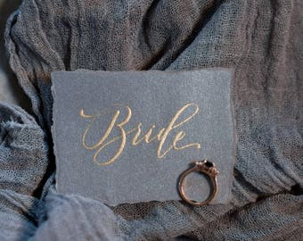 Custom Escort/Place Cards with Hand-Lettered Calligraphy