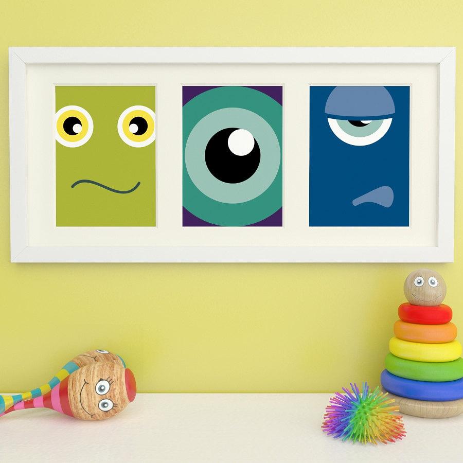Monster Prints Monster Art Childrens Wall Art Childrens