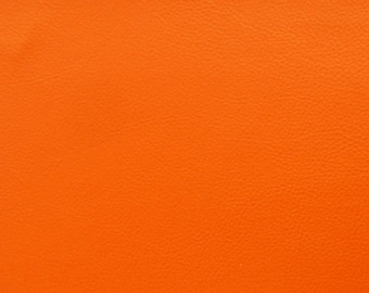 Thick leather - color pumpkin leaf