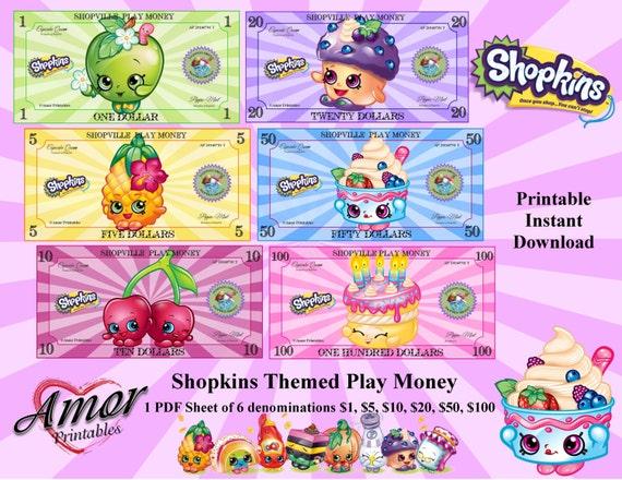 Play Money Shopkins Bonus Coloring