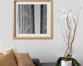 Brooklyn Bridge Print.  Architectural photography, print, black and white, buildings, New York, wall art, artwork, large format.
