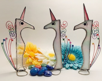 Rainbow Unicorn - Stained Glass Unicorn