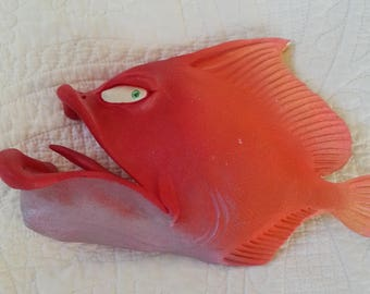 Red Fish Sculpture