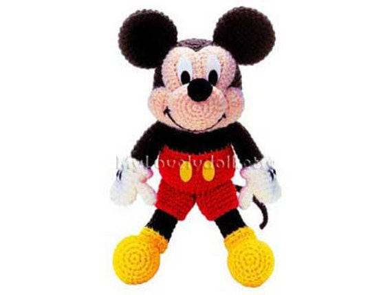 Amigurumi Mouse Pattern Crochet : Mickey mouse amigurumi crochet pdf pattern in english