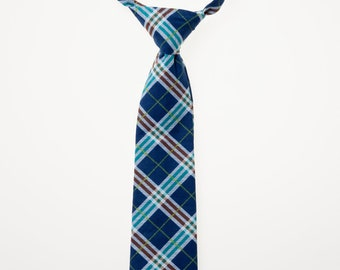 Toddler Necktie - Navy Plaid
