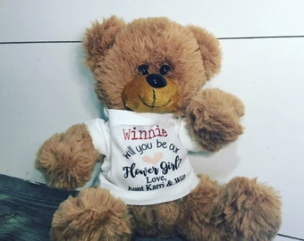 Flower Girl Proposal - Will you be my flower girl - Wedding Propsal - Teddy Bear Gift